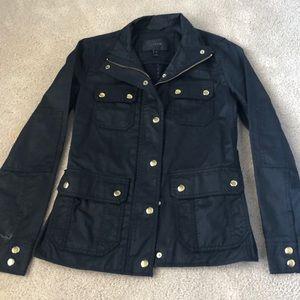 J Crew utility waxed jacket